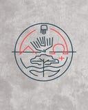 Minimalny religijny symbol royalty ilustracja