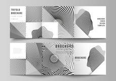 Minimalny wektorowy editable uk?ad kwadratowe format pokrywy projektuje szablony dla trifold broszurki, ulotka, magazyn Abstrakt ilustracji