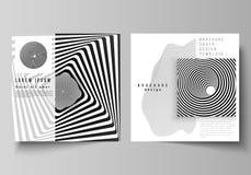 Minimalny wektorowy uk?ad dwa kwadratowej format pokrywy projektuje szablony dla broszurki, ulotka, magazyn 3 d streszczenie ilustracji