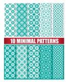 10 minimalnych wzorów Obraz Stock