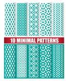 10 minimalnych wzorów Zdjęcie Stock