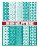 10 minimalnych wzorów Zdjęcia Stock
