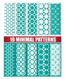 10 minimalnych wzorów Zdjęcie Royalty Free