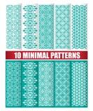 10 minimalnych wzorów Fotografia Royalty Free