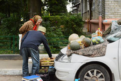 Minimarket na região de Moscou fotos de stock royalty free