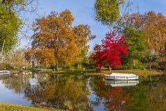 Minimes jeziorny Vincennes lasowy Paryski Francja Obrazy Royalty Free