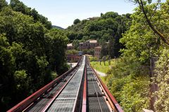 Minimetro Railway Perugia Royalty Free Stock Images