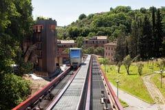 Minimetrospoorweg Perugia Royalty-vrije Stock Afbeelding