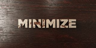 Minimize - grungy wooden headline on Maple  - 3D rendered royalty free stock image. This image can be used for an online website banner ad or a print postcard Stock Photo