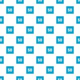 Minimum speed fifty limit pattern seamless. In flat style for any design Royalty Free Stock Photography