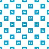 Minimum speed fifty limit pattern seamless stock illustration