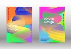 Minimum vector coverage. Set of abstract covers. royalty free illustration