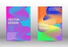 Minimum vektortäckning Uppsättning av abstrakta räkningar stock illustrationer