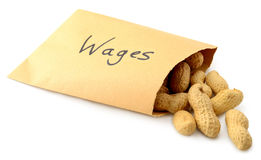Minimum wage Royalty Free Stock Photos