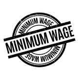 Minimum Wage rubber stamp. Grunge design with dust scratches. Effects can be easily removed for a clean, crisp look. Color is easily changed Royalty Free Stock Images