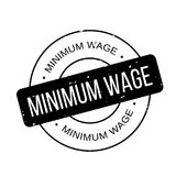 Minimum Wage rubber stamp. Grunge design with dust scratches. Effects can be easily removed for a clean, crisp look. Color is easily changed Royalty Free Stock Photography