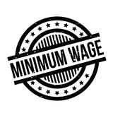 Minimum Wage rubber stamp. Grunge design with dust scratches. Effects can be easily removed for a clean, crisp look. Color is easily changed Stock Image