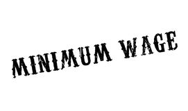 Minimum Wage rubber stamp. Grunge design with dust scratches. Effects can be easily removed for a clean, crisp look. Color is easily changed Stock Photo