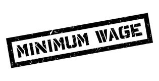 Minimum Wage rubber stamp. On white. Print, impress, overprint Royalty Free Stock Photo