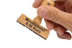 Minimum wages in Germany. 8,50 Euros minimum wages for workers in Germany Stock Image