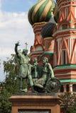 minin μνημείο Μόσχα pozharsky Ρωσία Στοκ φωτογραφία με δικαίωμα ελεύθερης χρήσης