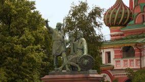 minin μνημείο pozharsky απόθεμα βίντεο