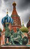 Minin en monument Pozharsky Volgens legende, de stichters van het Koninkrijk van Moskou De bestemming van de toerist Gazebo in he Royalty-vrije Stock Foto