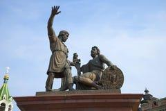 Minin et Pozharsky Monument dans Nijni-Novgorod Photographie stock libre de droits