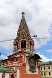 Minin och Pojarsky monument (restes upp i 1818), röd fyrkant i Moskva, Ryssland Arkivfoto