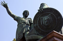 minin plac czerwony pomnikowy pozharsky Zdjęcia Stock