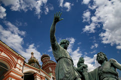 Minin and Pojarsky monument (was erected in 1818), Red Square in Moscow, Russia Stock Photos