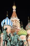 Minin and Pozarsky monument in the dark night Royalty Free Stock Photo