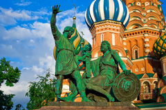 Minin and pozharskiy. Pozharsky And Minin Monument, Moscow, Red Square Royalty Free Stock Photos