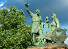 Minin and Pozharsky monument. On the Red square, Moscow Stock Photos