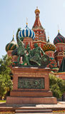 Minin and Pozharsky monument in Moscow Stock Images