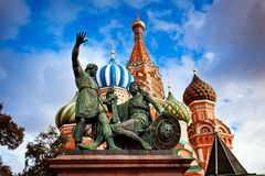 Minin and Pozharsky monument in Moscow Stock Photography