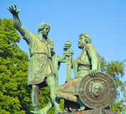 Minin and Pozharsky monument in Moscow Royalty Free Stock Photography