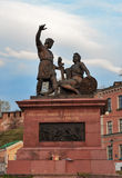 Minin and Pozharsky monument near Kremlin in Nizhny Novgorod. Nizhny Novgorod, Russia - May 2, 2015: Minin and Pozharsky monument near Kremlin. Nizhny Novgorod Royalty Free Stock Photos