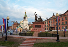 Minin and Pozharsky monument near Kremlin in Nizhny Novgorod Royalty Free Stock Photography