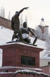 Minin and Pozharsky monument in Nizhny Novgorod, Russia Stock Photos