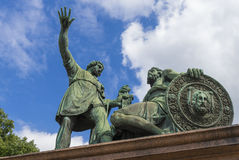 Minin and Pozharsky monument on Red square, Moscow, Russia Stock Photography