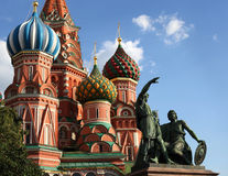 Minin and Pozharsky, St. Basil\'s Cathedral Royalty Free Stock Photos