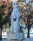 Minina Nua青年雕象, Liberdade广场波尔图 库存照片