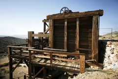 Mining. An abandoned gold mine in the California desert Royalty Free Stock Images