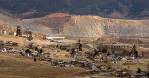 Mining Activities Equipment Houses Walkerville Butte Montana USA Stock Photography