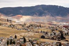 Mining Activities Equipment Houses Walkerville Butte Montana USA Stock Photo