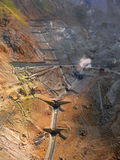 Mining area. Natural mineral mining area in Japan Stock Photo