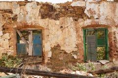 Mining area, facade with windows Royalty Free Stock Photo