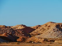 Mining in the Australian outback at sunrise Royalty Free Stock Images
