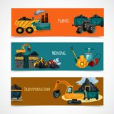 Mining Banners Set Stock Photo